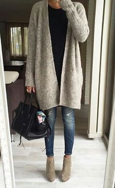 Casual with cardigan