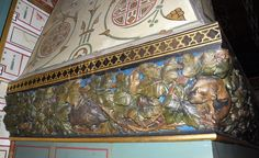 Lord Bute's bedroom fireplace frieze, Castell Coch Welsh Castles, Bedroom Fireplace, Cymru, Wales, Lord, Painting, Welsh Country, Painting Art, Paintings