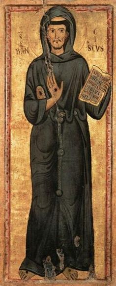 Maestro anonimo (active in Lazio) - San Francesco d'Assisi - 1235-1240 - Musée du Louvre, Parigi
