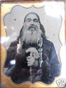 Rare Antique Ambrotype of Authentic Mountain Man or Fur Trapper circa 1800s | eBay