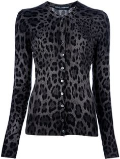 Grey leopard print cardigan D Moda Rock, Leopard Print Cardigan, Leopard Prints, Animal Prints, Cheetah Print, Animal Print Fashion, Dolce E Gabbana, Pulls, What To Wear