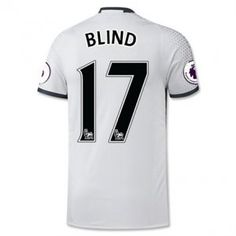 16-17 Third White Manchester United Football Shirt #17 BLIND Cheap Replica Jersey [G00677]