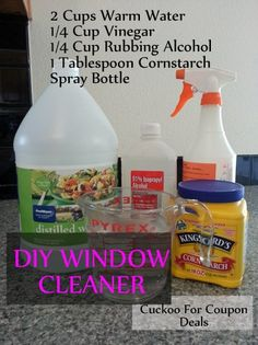 "Best streak free window cleaner ever! I have 3 dogs that ""nose paint"" my patio door ever day. When the sun streams in it is a hot mess. This cleaner is better than ANY commercial window cleaner with less elbow grease. Household Cleaning Tips, Homemade Cleaning Products, Cleaning Recipes, Natural Cleaning Products, Cleaning Hacks, Household Cleaners, Cleaning Supplies, Cleaning Services, Car Cleaning"