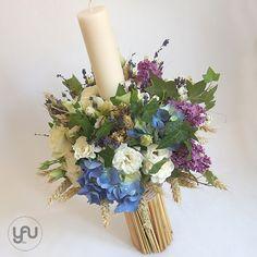 yau concept_yau flowers_yau events_lumanare botez Diy Wedding, Wedding Flowers, Palm Sunday, Christening, Floral Wreath, Concept, Wreaths, Candles, Baby