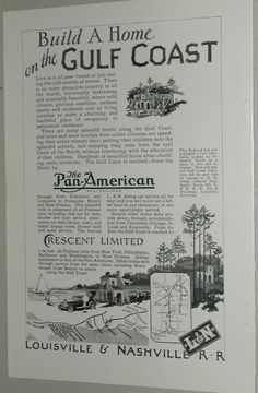 1926 Louisville Nashville RR Advertisement Crescent Limited