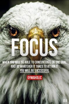 When you will be able to concentrate on one goal and do whatever it takes to attain it. You will be successful. Via @gymaholic #focus #motivation