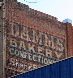 Damm's Bakery ghost sign along College Ave. - Ft. Collins