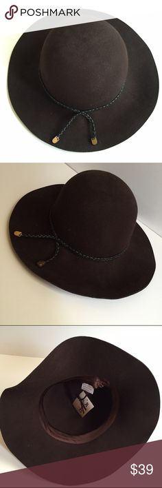 NWT Floppy Brown 100% Wool Hat One Size Beautiful brown hat purchased at a local Nashville boutique. Never worn. Blush Accessories Hats