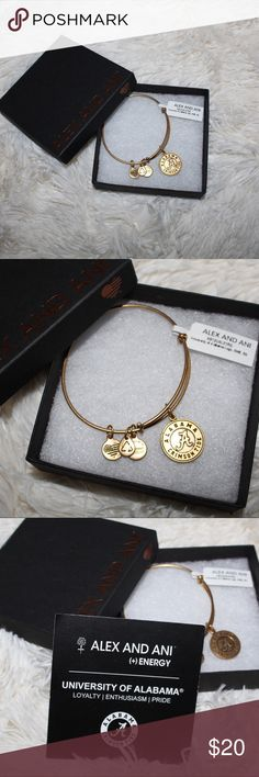 Alex and Ani University of Alabama Charm Bangle Love these stackable Alex and Ani bracelets! Love the Crimson Tide even more but I have one too many. New with tags. No trades. Roll Tide!!! Alex & Ani Jewelry Bracelets