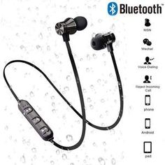 Bluetooth 2 Wireless Stereo Earphone Sport Headset For iPhone X XS 7 8 Samsung Xiaomi 9 Waterproof Earbuds With Mic (Discount 10 % ) Sport Earbuds, Sports Headphones, Bluetooth Headphones, Iphone 7, Smartwatch, In Ear Headset, Earbuds With Mic, Speakers, Plugs