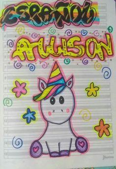Resultado de imagen para decoracion para marcar libretas de unicornio