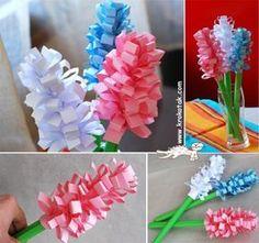 Tavaszvárás: jácint papírból - Színes Ötletek