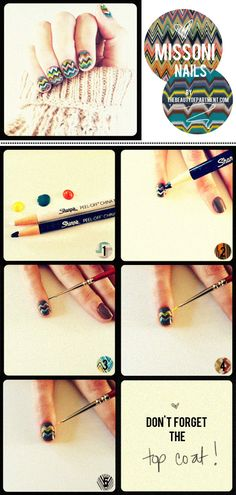 Missoni nails by thebeautydepartme...