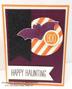 Stampin'Up! Cheer All Year stamp set, Halloween card, Paper Players card sketch