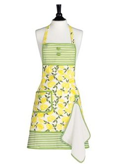 I don't do any of the cooking in our family but I simply adore this!  Jessie Steele Apron Gigi Summer Lemons with Towel