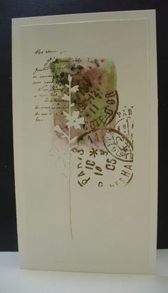 PaperArtsy: 2016 8 A Box of Cards by Ellie Knol Stampin Up, Card Making Inspiration, Making Ideas, Mixed Media Cards, Pretty Cards, Watercolor Cards, Sympathy Cards, Masculine Cards, Card Tags