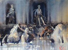 Álvaro Castagnet Artist Painting, Watercolor Art, Artist Art, Artist Inspiration, Watercolor City, Watercolor Artists, Drawings, Painting, Life Art