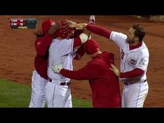 How about some more walk-off action? Remember Opening Night 2013? We do. Here's Votto's walk-off single to beat the Angel's.