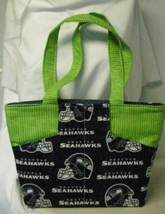 Seahawks Zippered Purse by QuiltingMyWay on Etsy, $30.00