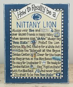 Penn State Nittany Lions 'How To' Boxed Canvas