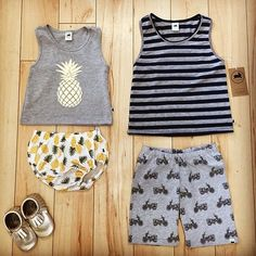 Spring boys and girls outfit ideas. Loveeee the pineapple shirt and bloomers