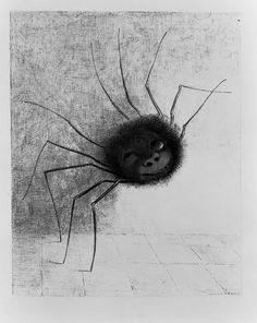 The Laughing Spider, c.1881 (litho) - Odilon Redon