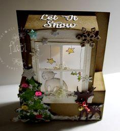 Fenster Teelichtkarte - window tea light card