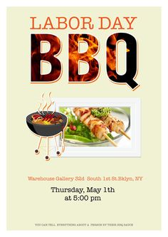 BBQ poster design template.
