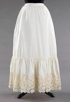 Petticoat  1890s  The Metropolitan Museum of Art