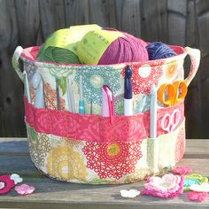 Mum's been looking for a way to carry her knitting project from one room to another so this would be perfect for her!