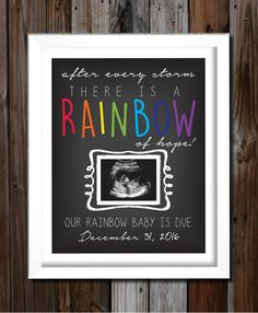 Custom Printable Rainbow Baby Pregnancy by TheRainbowBaby on Etsy                                                                                                                                                     More