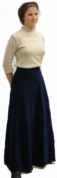 Navy Corduroy Wrap Skirt $54.95