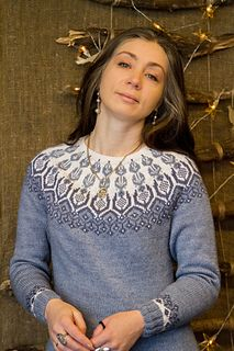 Ravelry: Frost Icy Flowers pattern by Iaroslava Rud Ravelry: Frost Icy Flowers pattern by Iaroslava Rud Fair Isle Knitting Patterns, Sweater Knitting Patterns, Free Knitting, Fair Isle Pullover, Norwegian Knitting, Icelandic Sweaters, Sweater Design, Knit Crochet, Clothes