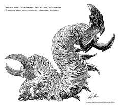 """Meat Head"" kaiju concept by Guy Davis"