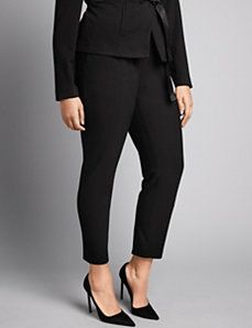 Stretch ponte skinny pant by Isabel Toledo Trendy Plus Size Clothing, Plus Size Dresses, Plus Size Outfits, Plus Size Fashion, Classic Wardrobe, Fall Wardrobe, Curvy Outfits, Cool Outfits, Isabel Toledo
