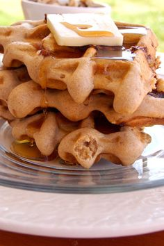 Banana-Bacon Whole Wheat Waffles
