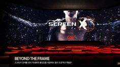270-degree ScreenX technology shows ultra-wide movies on three walls