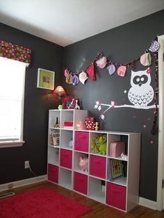 Grace's Modern Owl Nursery Owl Bedrooms, Girls Bedroom, Bedroom Decor, Kids Storage, Hat Storage, Storage Cubes, Storage Bins, My New Room, My Room