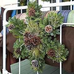 I love the shape of this wreath