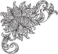 Delicate Bloom Corner design (UTH5236) from UrbanThreads.com #myfavoriteembroidery