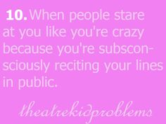 Or when your singing at the top of your lungs, expressing your heart out in the car!