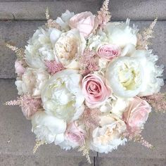On Todays A bouquet a day Number Peonies! A girls best friend! (Well after puppies & diamonds anyway) The bouquet consists of David Austin Roses Sweet Avalanche Roses Peonies Hydrangea and Astilbe! Whats you favourite flower? Comment & Tag your en Astilbe Bouquet, Peony Bouquet Wedding, Bride Bouquets, Bridesmaid Bouquet, Pink Rose Bouquet, Peonies And Hydrangeas, Pink Peonies, Bride Flowers, Wedding Flowers