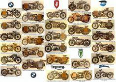 Wehrmachtskräder des 2. Weltkrieges: BMW R 4, BMW R 11, BMW R 12, BMW R 20, BMW R 35, BMW R 75,  Zündapp DB 200, Zündapp K 500, Zündapp KS 500, Zündapp KS 600, Zündapp KS 750, Zündapp K 900,  Triumph DB 250,  DKW RT 100, DKW NZ 350,  NSU 501 TS, NSU 501 OSL, NSU 601 OSL,  Phänomen Aboy 125.