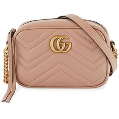 Gucci GG Marmont Mini Matelass& Camera Bag ($980) ❤ liked on Polyvore featuring accessories, tech accessories, nude, gucci and camera bag