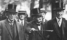 Lloyd George, Clemenceau and Wilson arrive at Versailles for negotiations. The Treaty was undermined by subsequent events starting as early as 1932 and was widely flouted by the mid-1930s