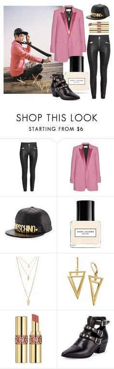"""""""SHINee Minho Dream Girl Outfit Inspiration"""" by cutiepiejuvy ❤ liked on Polyvore featuring Yves Saint Laurent, Moschino, Marc Jacobs and Forever 21"""