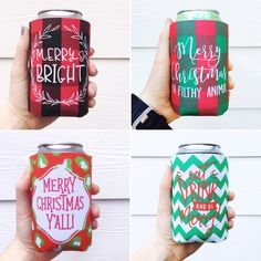 Tis' the season for Christmas koozies....we are LOVING these festive koozies featured from @paperleigh #koozie #christmas