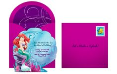 Plan a fanciful Little Mermaid party with a free Little Mermaid invitation! Personalize and easily send to guests via email or social media.