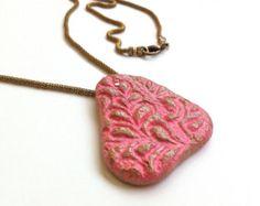 COLLAR de corazón regalo de novia San por PaperJewelryDesign