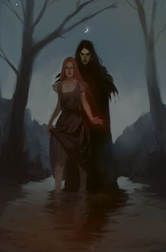 "jodeeeart: ""From this afternoon. Fantasy Inspiration, Character Inspiration, Character Art, Dark Fantasy Art, Dark Art, Hades Und Persephone, Arte Latina, The Ancient Magus, Couple Art"
